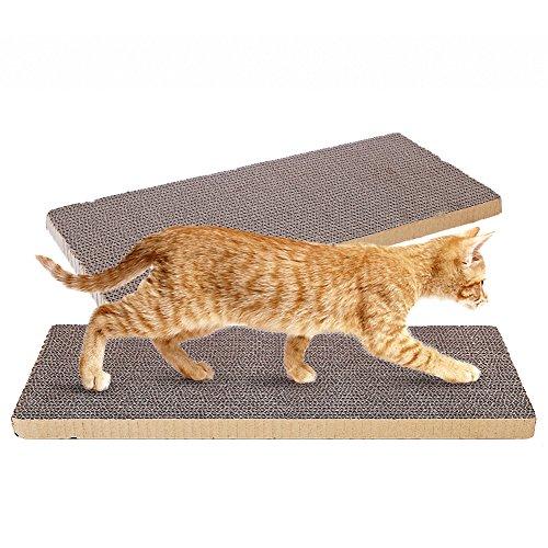 OMEM (Confezione da 2) Cat Scratching pastiglie può Essere Tagliata per Gatti Artigli a Giocare Ovunque, DIY to Make Your Pet soddisfatti