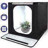 SAMTIAN Portable 16''x16''x16 ''/40*40*40cm Fotostudio Lichtzelt Beleuchtung Studio Schießen Zelt Box mit 3 Hintergrundpapier (schwarz, weiß und Blau) für Fotografie
