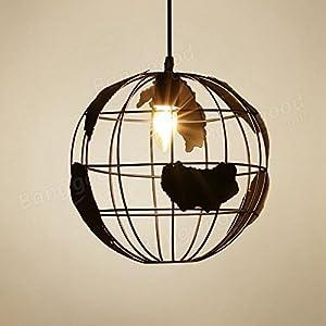 Pegasus Oficina en casa lámpara colgante moderna mapa del mundo mundo pendiente de la lámpara