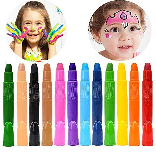 12 gesichtsbemalung, gesicht und körper malen das halloween - party - make - up, nicht - toxische abwaschbare kinderschminken, wasserbasis twist up kinderschminken buntstifte