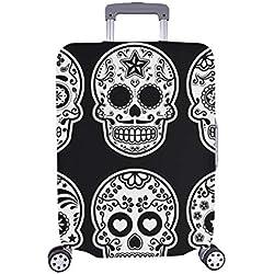 Cubierta de Maleta Protectora de Equipaje de Viaje Dia de Los Spandex de Calavera de azúcar Mexicana Maleta Cubierta de Viaje 28.5 x 20.5 Pulgadas