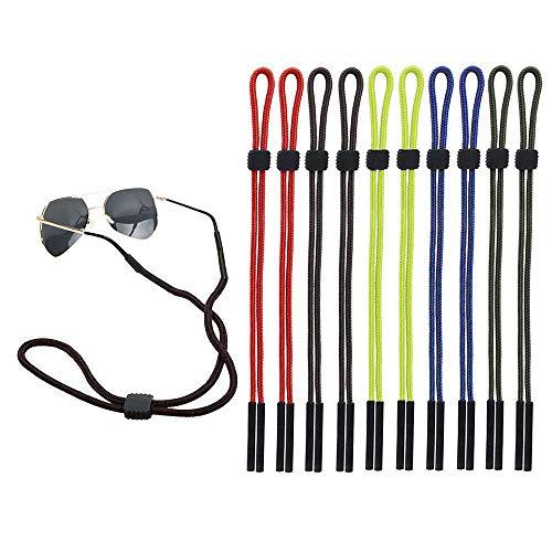 10 Stück Brillenband Brillenkordel, Einstellbarer Brille Cord Sonnenbrille Retainer Anti-Rutsch Brillen Halter Gurte Unisex für Sport und Outdoor-Aktivitäten