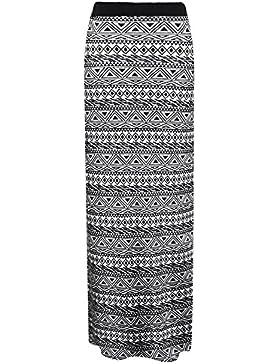 Janisramone mujeres jersey maxi falda gitana bodycon verano vestido talla 8-26