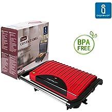 Aigostar Warme 30HHH - Grill, parrilla, plancha y sandwichera de 700 watios. Libre BPA.