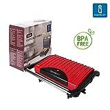 Aigostar Warme 30HHH - Grill multifonctions, plaque de cuisson, grill pour sandwichs de 700 W. Garanti sans BPA.