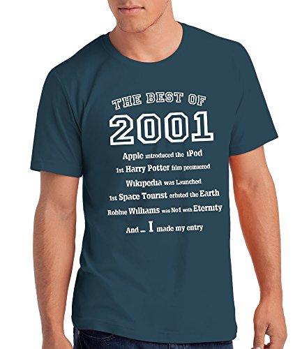 """Maglietta da Uomo """"The Best of 2001"""" - Regalo di Compleanno Per 16 Anni"""