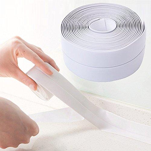 Ruban adhésif étanche et anti-moisissure en PVC, pour joints - Pour cuisine et salle de bain - 335 x 3,8 cm blanc