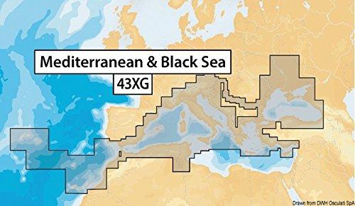 Navionics Plus 43XG Mittelmeer & Schwarzes Meer Meere & Seen, Karte auf SD/MSD (Meer-sd-karte)