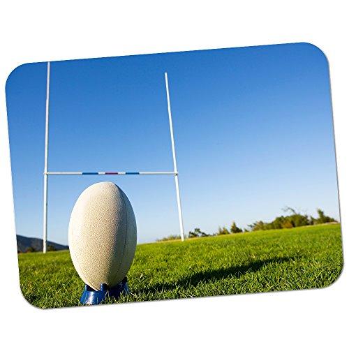 Fancy A Snuggle Tapis de souris de grande qualité en caoutchouc épais doux et confortable avec image de ballon de rugby de la coupe du monde Ball Ready For Penalty Kick