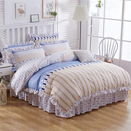 maomaomiyami Bed Rock Baumwolle einfache vierteilige Baumwollbettwäsche, B-Modelle, 1,5 * 2,0 m
