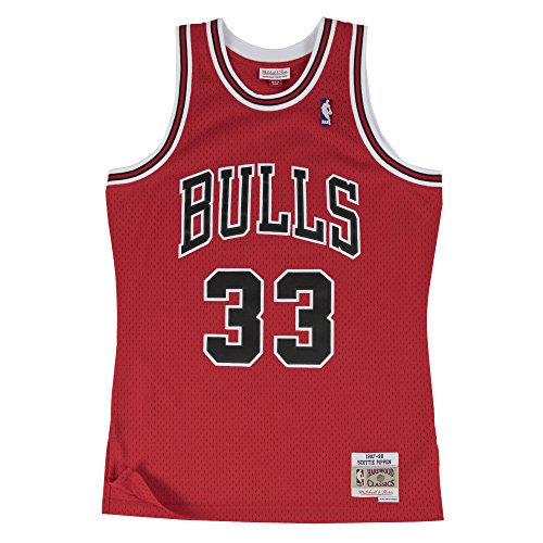 quality design ae948 42562 Mitchell   Ness NBA Chicago Bulls Scottie Pippen 33 1997-98 Retro Jersey  Swingman Oficial