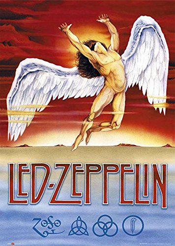 Close Up LED Zeppelin Poster Swan Song (61cm x 91,5cm) + 1 Traumstrand Poster Insel Bora Bora Zusätzlich Led Zeppelin-swan Song-poster