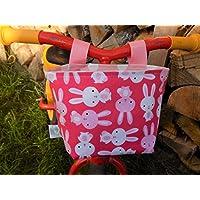 Lenkertasche Fahrradkörbchen Häschen rosa pink