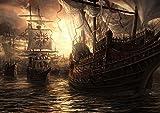Poster Pirate Ship Bateau caravelle Wall Art 02