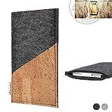 flat.design Handy Hülle Evora für Allview X4 Soul Infinity N handgefertigte Handytasche Kork Filz Tasche Case fair dunkelgrau