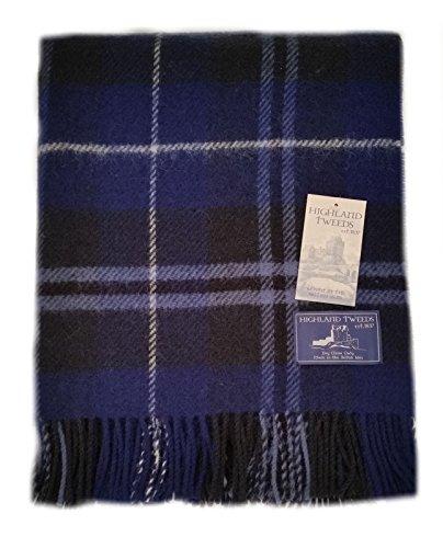 Douglas blau Tartan Check Auto Teppich Knie–Schurwolle–Highland Tweeds
