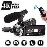 Videocamera 4K Fotocamera da 30 MP Wifi Ultra HD 4K 3.0'Videocamera Digitale...