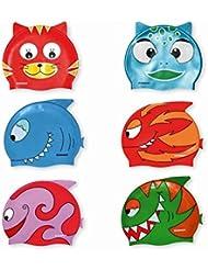 Gimer Nuoto, Cuffie Cartoon Unisex Bambini, Multicolor, Taglia Unica