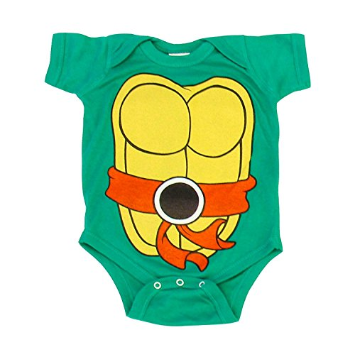 Turtles Infant Baby Onesie Romper Costume (Orange-6 Months) (Orange Ninja Turtle)