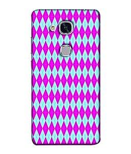 PrintVisa Designer Back Case Cover for HONOR 5C (diamond shaped pink blue beautiful )