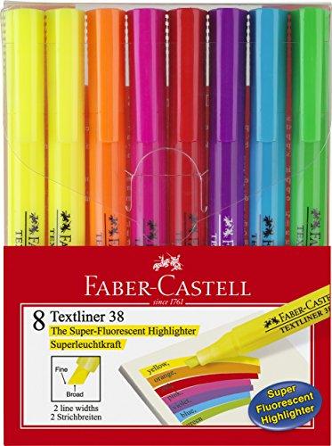 Faber-Castell 158131 - Blíster 8 marcadores fluorescentes