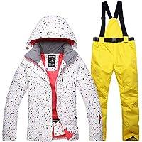 Jiuyizhe Chaqueta de esquí de Snowboard Transpirable Traje de esquí Impermeable para Mujer (Color : 06, Size : XL)