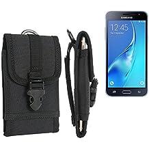 bolsa del cinturón / funda para Samsung Galaxy J3 Duos (2016), negro | caja del teléfono cubierta protectora bolso - K-S-Trade (TM)