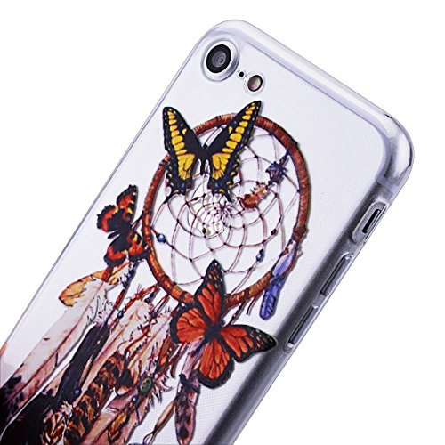 HB-Int 3 in 1 Custodia per Apple iPhone 7 (4.7 pollici) TPU Silicone Cassa Soft Silicone Case Bumper Morbida Cover Ultra Sottile Leggero Custodia Flessibile Liscio Caso Anti Graffio Anti Scossa Anti S Dreamcatcher