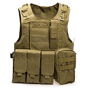 Gilet tactique d'air soft, paintball, gilet tactique militaire molle pour jeu de chasse et de tir en plein air