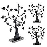 """Schmuckständer im """"Baum"""" Design - Schwarz ca. 43 x 39 x 8 cm - Schmuckhalter Aufbewahrung und Präsentation - Grinscard"""