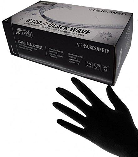 Schwarze Nitril Handschuhe Nitras