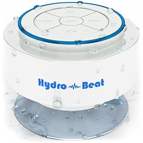 Bluetooth Lautsprecher Hydro - Schlag drahtloser beweglicher vollständig wasserdicht und staubdicht Lautsprecher -Radio 100% Geld- zurück-Garantie leicht zu jedem möglichem an jedem Ort zur Verwendung fähigen Gerät über Bluetooth verbunden auch unter Wasser . Ideal für Bäder, Küchen und unterwegs