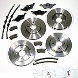 Autoparts-Online Set 60003371 Bremsscheiben/Bremsen + Bremsbeläge Vorne + Hinten + Bremsschläuche