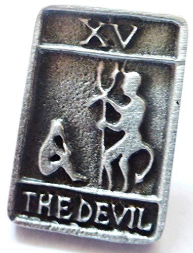 Der Teufel Karte Tarot Trionfi Pin Badge in feinem englischen Zinn