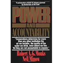 Power and Accountability: Restoring the Balances of Power Between Corporations and Society by Robert A. G Monks (1991-10-14)