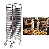 Paneltech 16 Stufe Küchenwagen Servierwagen Platzsparend Rollwagen Metall Nischenregal mit Rollen für Küche
