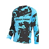 Uglyfrog Herren Element Racewear Motocross Jersey MX Enduro Downhill Trikot Mountain Bike Motorrad Wear Top Schutzkleidung Innen