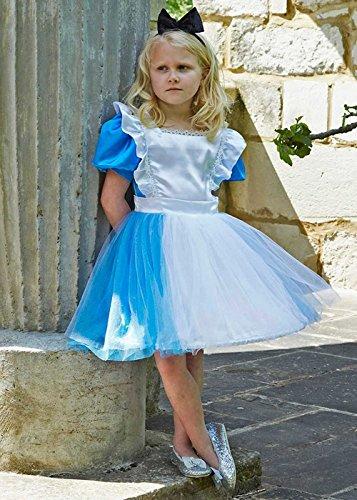 Kostüm Deluxe Kind Alice - Magic Box Int. Kinder Deluxe Blau Alice Kostüm Small (3-5yrs)