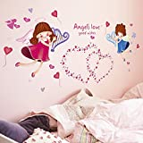 GoldenCart Angel's Love Wall Sticker To Passively Wish Your Kids Best In Life (75 Cm * 50 Cm, Self-Adhesive And Safe Sticker)
