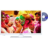 Telefunken XH24A100D-W 61 cm (24 Zoll) Fernseher (HD-Ready, Triple Tuner, DVD-Player) weiß
