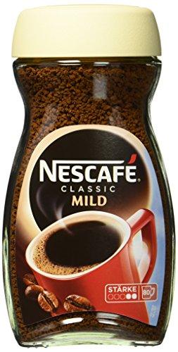 NESCAFÉ Classic Mild, löslicher Bohnenkaffee, mit feinen Arabica Kaffeebohnen, kräftiger Instant-Kaffee, für ca. 80 Tassen, 1 x 200 g Glas
