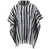 LOUDelephant Poncho à capuche 100% coton tissé Gheri Style mexicain -...