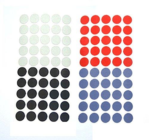 REflektoren Punkte Klebepunkte reflektierend Makierung Geocaching reflective Dots reflektierende kreise (200, 4 Farben je 50 Stk) (Kreis Leuchtet Rot)