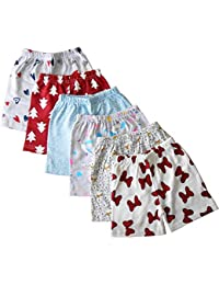 Rockers Boys & Girls Cotton Printed Shorts and Half Pants Pack of 6 & Pack of 10 (Colors and Print May Vary)