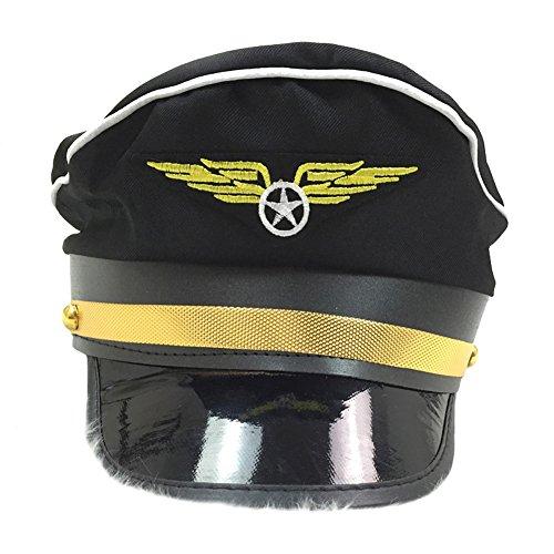 Cops Und Räuber Kostüm - DREAMOWL Damen Polizei Cop Hat-Kostüm-Zusatz-Party-Schwarz-Kappe für
