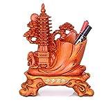 Décoration de porte-stylo de style chinois, décoration de table Feng Shui, rangement multifonctions d'articles divers, apprentissage de bénédiction, papeterie d'étudiant, forme de tour, cadeau élégant