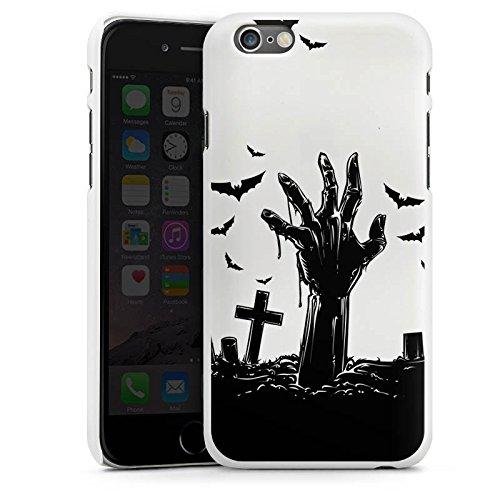 Apple iPhone 6 Silikon Hülle Case Schutzhülle Zombie Halloween ohne Hintergrund Hard Case weiß