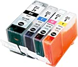 Metro Market 4 Stücke Kompatible Patronen Ersatz für Canon BCI-3 BCI-6 Tintenpatronen Hohe Kapazität für Canon PIXMA iP4000