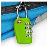 TRIXES Cadenas avec code à 4 chiffres TSA pour valises et sacs vert