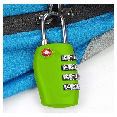 Tsa-zahlenschloss (TRIXES 4-stelliges TSA-Vorhängeschloss Zahlenschloss für Gepäck, Tasche, Koffer – Grün)